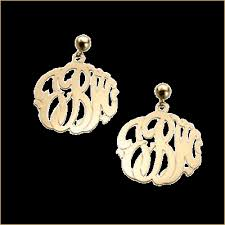 monogram jewlery monogram jewelry by basch co gold diamond silver