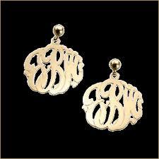 monogram jewelry cheap monogram jewelry by basch co gold diamond silver