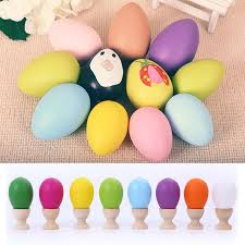 painted wooden easter eggs aliexpress buy 5pcs lot easter egg tray decoration for home
