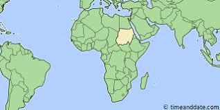 africa map khartoum current local time in khartoum sudan