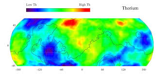 Mars Map Space Images Map Of Martian Thorium At Mid Latitudes