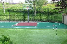 Backyard Basketball Court Backyard Basketball Court Cost Backyard Basketball Court Cheap