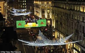 london regent street christmas lights fail to impress with bleak