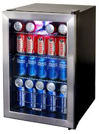 glass door small refrigerator newair ab 850 84 can beverage cooler