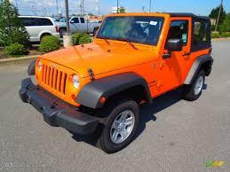 jeep wrangler orange and black 2012 crush orange jeep wrangler sport 4x4 69949655 gtcarlot com
