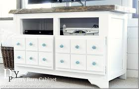 diy apothecary media cabinet makeover inspired by pottery barn
