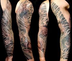 black u0026 grey flowers japanese koi sleeve tattoo slave to the needle
