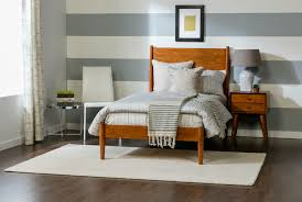 Bed And Nightstand Alton Cherry Night Table Living Spaces