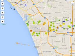 Map Of Venice Florida by This Map Of Lax Plane Noise Is Weirdly Mesmerizing Curbed La