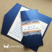Navy Blue Wedding Invitations Lace Wedding Invitations Free Shipping