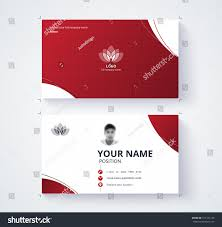 Red Business Cards Red Business Card Template Sample Logo Stock Vector 571121143