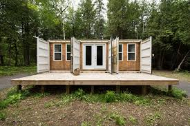 a canadian man built this off grid shipping container home for