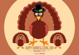 flat style happy thanksgiving turkey illustration free