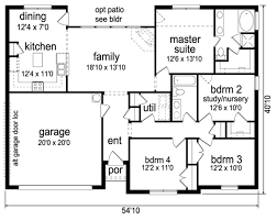 Nursery Floor Plans Ranch Style House Plan 4 Beds 2 00 Baths 1653 Sq Ft Plan 84 550