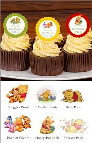 winnie the baby pooh and friends cupcake toppers lmk gifts