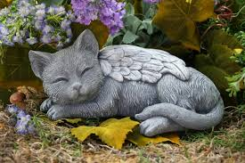 cat statue cat memorial garden sculpture in concrete