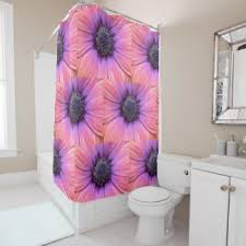 Pink And Orange Shower Curtain Daisy Shower Curtains Zazzle