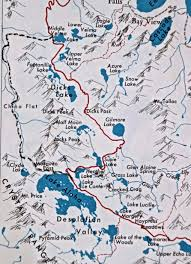 Map Of Yosemite Tahoe Yosemite Trail Wandering Through Time And Place