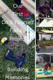 our first do it yourself family project diy sandbox with roof