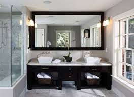 bathroom great wall mirror design ideas with vanity sink and wall