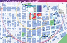 Transit Maps Of The World by Getting To Rogers Place U2013 Transit