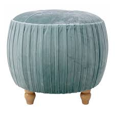 Ottoman Small New Pacific Direct Helena Velvet Small Ottoman Wood
