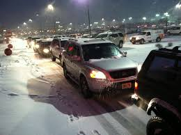 lexus es in snow snow sticks shoppers in traffic for hours at rockaway mall nj com