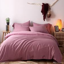 king queen high grade tencel soft cool pure purple linen cotton