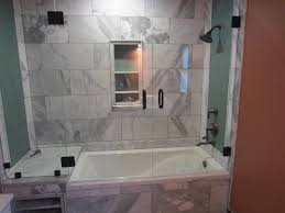 tub with glass door tub and shower frameless enclosure patriot glass and mirror