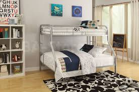 tritan twin over queen bunk bed silver acme furniture 02052si 8