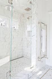 amazing bathroom with marble mosaic hexagonal mosaics subway