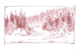 drawing of a forest enchanted forestellfi on deviantart drawings