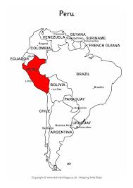 peru on map of south america