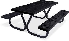 Picnic Table Frame Extra Heavy Duty Bolt Thru Perforated Metal Table Picnic Tables