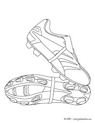 coloriage de chaussures de foot un dessin de crampon pour les