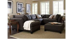 2 399 99 cindy crawford metropolis slate 4pc sectional living