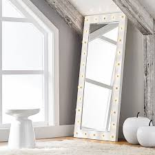 full length mirror with light bulbs marquee light mirrors pbteen
