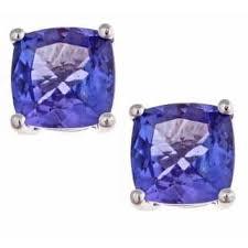 tanzanite stud earrings tanzanite gemstone earrings for less overstock