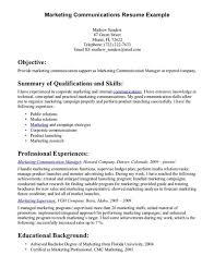 Example Of Resume Skills And Qualifications by Communication Skills Examples For Resume Doc Sample Profile For