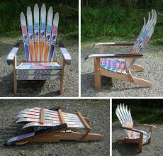 Homemade Adirondack Chair Plans Diy Build Adirondack Chair With Skis Wooden Pdf Building Plans
