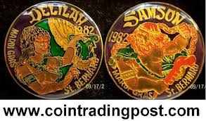 mardi gras deblume crescent city doubloon traders krewe of samson and web page