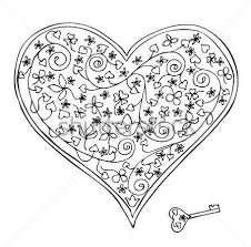 awesome heart key tattoo design on back tattooshunter com