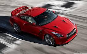 red nissan sports car nissan gtr hd desktop widescreen high definition nicheone