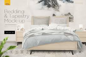 bedding and tapestry mock up product mockups creative market