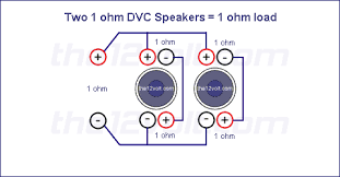 subwoofer wiring diagrams two 1 ohm dual voice coil dvc speakers