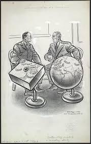 Iron Curtain Political Cartoon Apus B Post War Foreign Political Cartoons