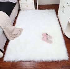 tappeti di pelliccia bianco faux tappeto di pelle di pecora faux coperta di pelliccia