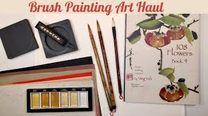 brush lettering art haul chinese brush painting sumi calligraphy