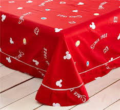 online shop red mickey mouse bed sheet set 600tc cotton duvet
