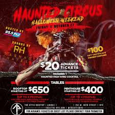 halloween party haunted circus friday oct 27th 1 hour open bar